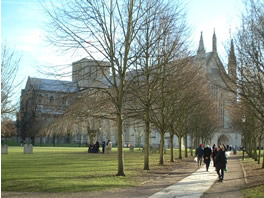 tourist information on Winchester Cathedral